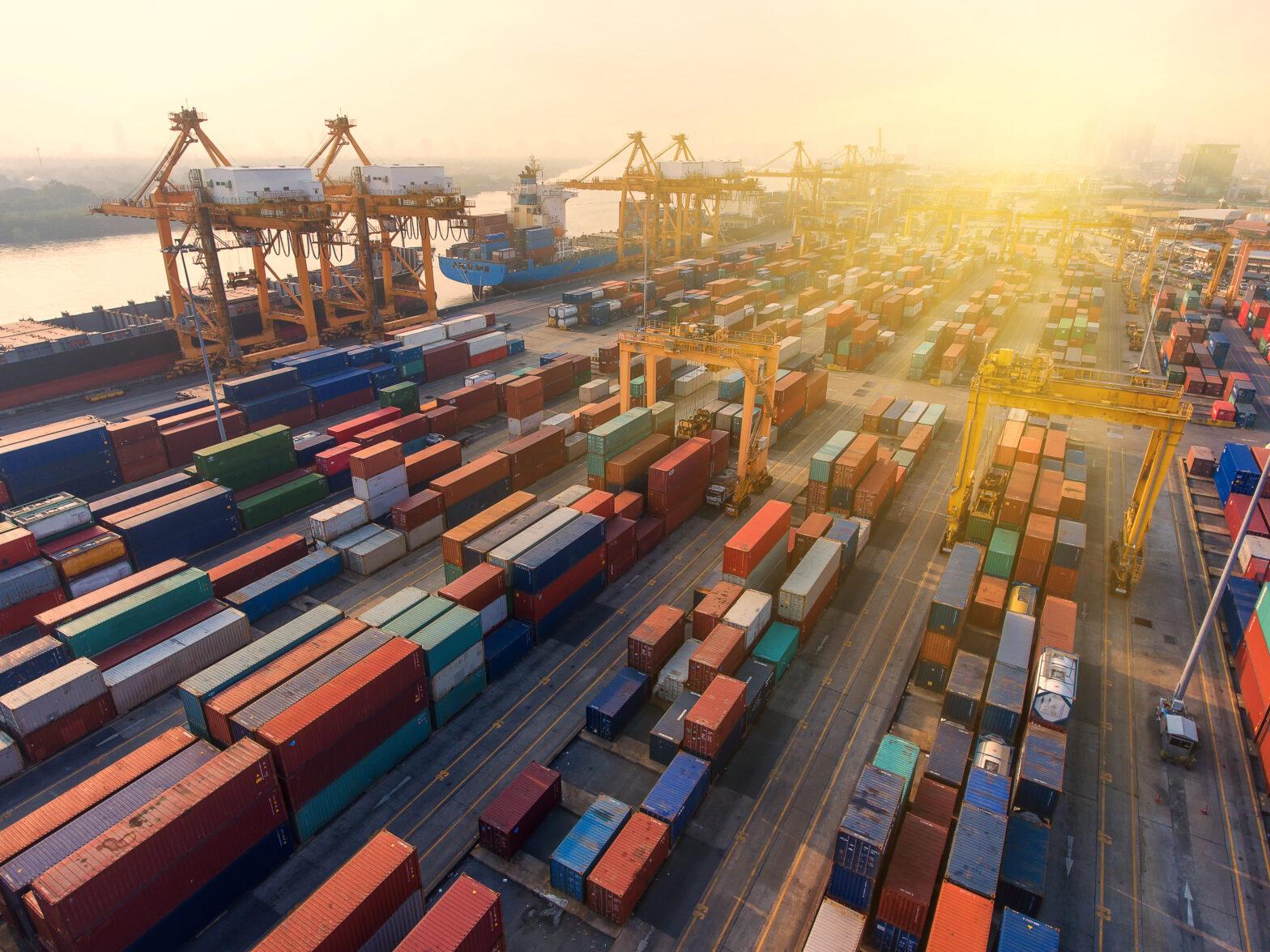 cargo container shipyard