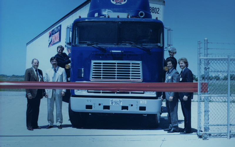 Workers with semi truck