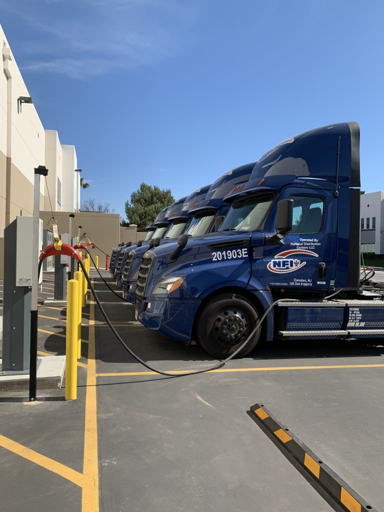 Electric Truck Charging Station - Green Provider